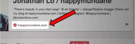 Get the Checkmark and Verify Your Website on Pinterest